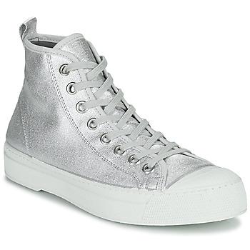 Cipők Női Rövid szárú edzőcipők Bensimon STELLA B79 SHINY CANVAS Ezüst
