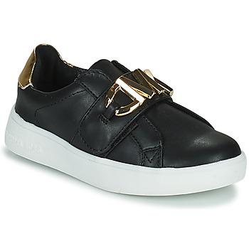 Cipők Lány Rövid szárú edzőcipők MICHAEL Michael Kors JEM MK Fekete  / Arany