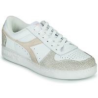 Cipők Női Rövid szárú edzőcipők Diadora MAGIC BASKET LOW ICONA WN Fehér / Rózsaszín