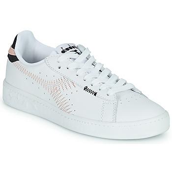 Cipők Női Rövid szárú edzőcipők Diadora GAME L LOW ZIG ZAG WN Fehér / Rózsaszín