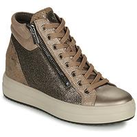 Cipők Női Magas szárú edzőcipők IgI&CO DONNA SHIRLEY Bézs / Arany