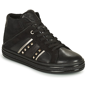 Cipők Női Magas szárú edzőcipők Geox LEELU Fekete  / Ezüst