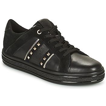 Cipők Női Rövid szárú edzőcipők Geox LEELU Fekete