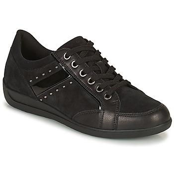 Cipők Női Rövid szárú edzőcipők Geox MYRIA Fekete