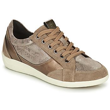 Cipők Női Rövid szárú edzőcipők Geox MYRIA Arany