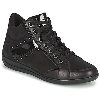 Cipők Női Magas szárú edzőcipők Geox MYRIA Fekete