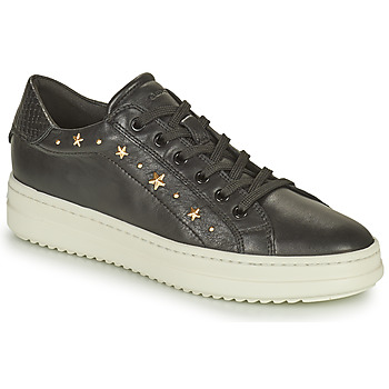 Cipők Női Rövid szárú edzőcipők Geox PONTOISE Fekete  / Arany