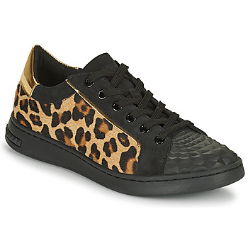 Cipők Női Rövid szárú edzőcipők Geox JAYSEN Fekete  / Leopárd
