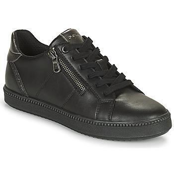 Cipők Női Rövid szárú edzőcipők Geox BLOMIEE Fekete