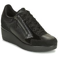 Cipők Női Rövid szárú edzőcipők Geox ILDE Fekete