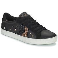 Cipők Női Rövid szárú edzőcipők Geox WARLEY Fekete  / Arany