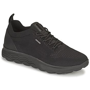 Cipők Férfi Rövid szárú edzőcipők Geox SPHERICA Fekete
