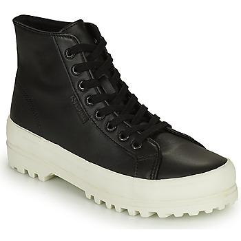Cipők Női Magas szárú edzőcipők Superga 2341 ALPINA NAPPA Fekete