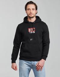 Ruhák Férfi Pulóverek Diesel S-GIRK-HOOD-B8 Fekete