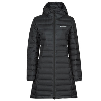 Ruhák Női Steppelt kabátok Columbia LAKE DOWN LONG HOODED JACKET Fekete