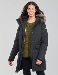 Ruhák Női Parka kabátok Columbia LITTLE SI INSULATED PARKA Fekete
