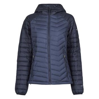 Ruhák Női Steppelt kabátok Columbia POWDER LITE HOODED JACKET Tengerész / Fekete