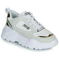 Cipők Női Rövid szárú edzőcipők Versace Jeans Couture FREMMI Fehér / Arany / Ezüst