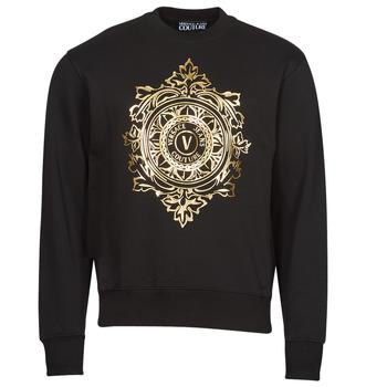 Ruhák Férfi Pulóverek Versace Jeans Couture VEMBLEM LEAF Fekete  / Arany