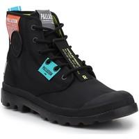 Cipők Magas szárú edzőcipők Palladium Manufacture Lite OVB Neon U 77082-008 czarny