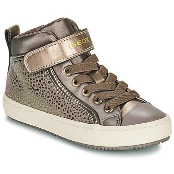 Cipők Lány Magas szárú edzőcipők Geox KALISPERA Arany