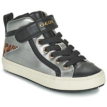Cipők Lány Magas szárú edzőcipők Geox KALISPERA Ezüst