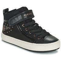 Cipők Lány Magas szárú edzőcipők Geox KALISPERA Fekete