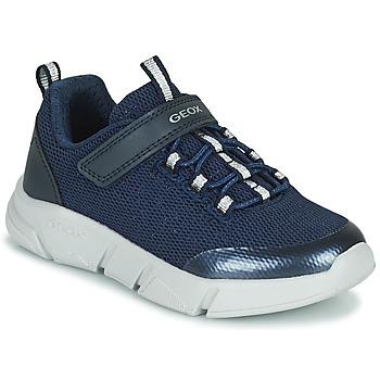 Cipők Lány Rövid szárú edzőcipők Geox ARIL Kék