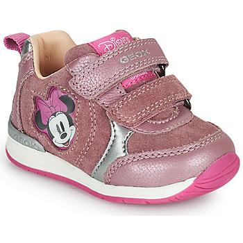Cipők Lány Rövid szárú edzőcipők Geox RISHO Rózsaszín
