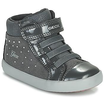 Cipők Lány Magas szárú edzőcipők Geox GISLI Szürke