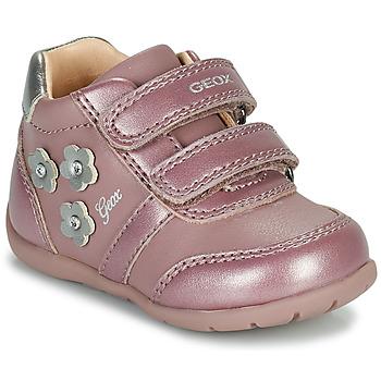 Cipők Lány Rövid szárú edzőcipők Geox ELTHAN Rózsaszín