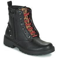 Cipők Lány Csizmák Geox CASEY Fekete