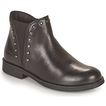 Cipők Lány Csizmák Geox AGATO Fekete