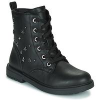 Cipők Lány Csizmák Geox ECLAIR Fekete