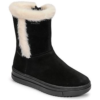 Cipők Lány Városi csizmák Geox REBECCA Fekete  / Fehér
