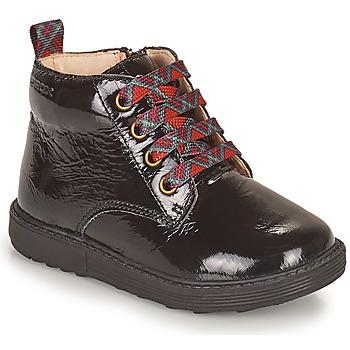 Cipők Lány Csizmák Geox HYNDE Fekete