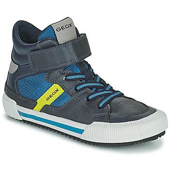 Cipők Fiú Magas szárú edzőcipők Geox ALONISSO Kék