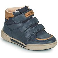 Cipők Fiú Magas szárú edzőcipők Geox POSEIDO Tengerész