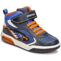 Cipők Fiú Magas szárú edzőcipők Geox INEK Kék / Narancssárga