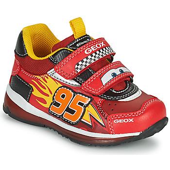 Cipők Fiú Rövid szárú edzőcipők Geox TODO Piros / Citromsárga