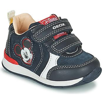 Cipők Fiú Rövid szárú edzőcipők Geox RISHO Tengerész