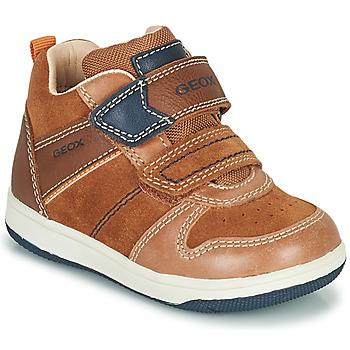 Cipők Fiú Magas szárú edzőcipők Geox NEW FLICK Barna