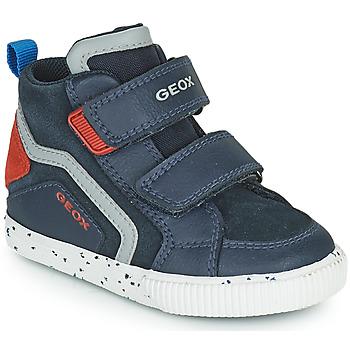 Cipők Fiú Magas szárú edzőcipők Geox KILWI Tengerész