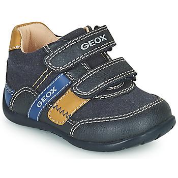 Cipők Fiú Rövid szárú edzőcipők Geox ELTHAN Tengerész