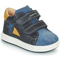 Cipők Fiú Rövid szárú edzőcipők Geox BIGLIA Tengerész