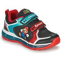 Cipők Fiú Rövid szárú edzőcipők Geox ANDROID Fekete  / Kék / Piros