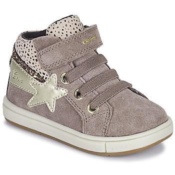 Cipők Lány Magas szárú edzőcipők Geox TROTTOLA Bézs
