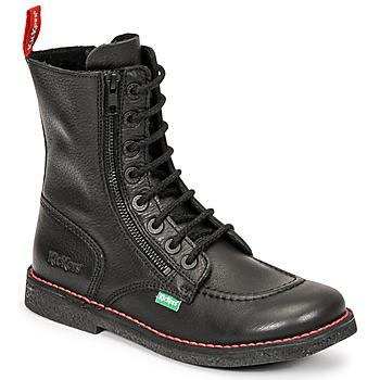 Cipők Női Városi csizmák Kickers MEETICKZIP Fekete  / Matt