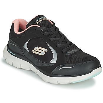 Cipők Női Rövid szárú edzőcipők Skechers FLEX APPEAL 4.0 Fekete  / Rózsaszín