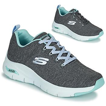 Cipők Női Rövid szárú edzőcipők Skechers ARCH FIT Szürke / Kék